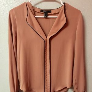 nude forever 21 blouse